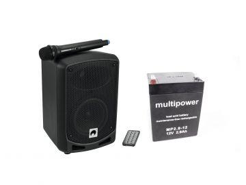 Omnitronic WAMS-065BT akkukäyttöinen äänentoistojärjestelmä