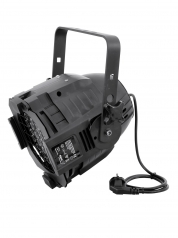Eurolite LED-spottivalo RGBA musta/hopea