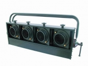 EUROLITE, Audience Blinder 4x PAR-36 black horizontal