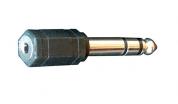 Bespeco AD190 adapteri 3,5mm stereojakki - 6,3mm stereoplugi