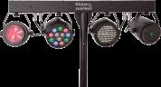 Ibiza Light DJ-85 valopaketti teline ja kaukosäädin