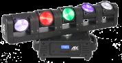 AFX Light 5-päinen SUPER BEAM LED liikkuvilla päillä ja loputtomalla pyörimisellä