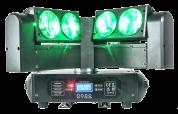 AFX Light 4-päinen BEAM LED liikkuvalla päällä ja loputtomalla pyörimisellä