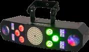 Ibiza Light 4in1 wash, moon, strobe, UV valoefekteillä DMX-ohjauksella ja kaukosäätimellä