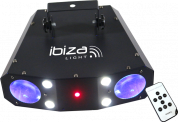 Ibiza Light 3in1 valo moonflower, strobe ja laser efekteillä