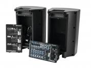 Omnitronic ´stagepas´ mikseri + aktiivikaiuttimet 500W