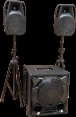 Siirreltävä äänentoistojärjestelmä häihin ja muihin juhliin