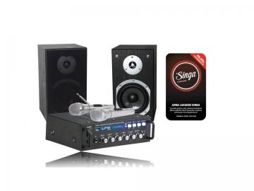 Hi-Fi/karaoke äänentoistopaketti Star 4 + Singa nettikaraoke