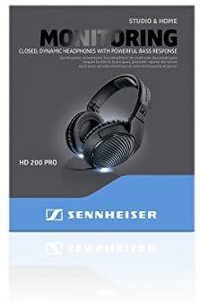 Sennheiser HD-200 PRO suljetut studiokuulokkeet
