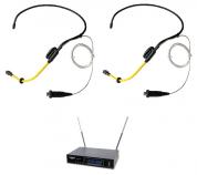 AudioDesignPRO PMU-33 langaton ammattijärjestelmä kahdella vedenkestävällä sport headsetillä