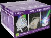 Ibiza Light akkukäyttöinen kolmen valon paketti
