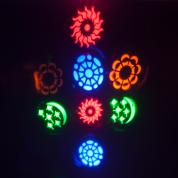 Ibiza Light DMX-ohjattu 2in1 RGBA LED valoefekti 20 gobolla ja strobolla