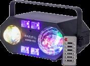 Ibiza Light 4in1 valo astro,waterwave, UV ja strobe efekteillä