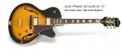Epiphone Joe Pass emperor vintage sunburst kitara