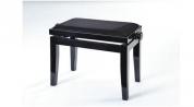 Discacciati musta pianotuoli kiiltävä