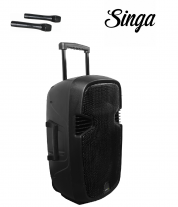 Karaoke Mobile  - Akkukaiutin+2x langatonta mikkiä+Singa