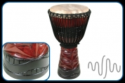 "World Rhythm Percussion MDJ043 Pro Africa Ghana 13"" Djembe"