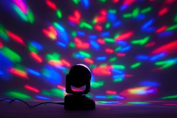Moving Head LED Astro valo kaukosätimellä