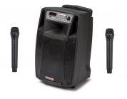 """AudioDesignPRO M2 10"""" kannettava akkukäyttöinen kaiutin+2x langatonta mikkiä USB/BT/SD"""