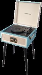 Retro Levysoitin Kantolaukussa omilla kaiuttimilla BT/USB/SD