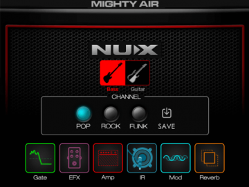NUX Mighty Air langaton vahvistin kitaralle/bassolle