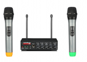 AudioDesignPRO 502M kaksi langatonta mikrofonia ja mikseri