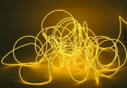 EUROLITE, EL wire 2mm, 10m, oranssi valokaapeli