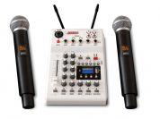 AudioDesign PAMX12 mikseri 2x langaton mikki+efektit