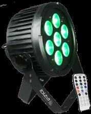 Ibiza Light 7x12W RGBWA UV LED-Valo