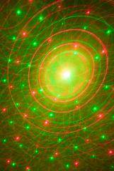 Hieno Firefly laser efekti vihreillä sekä punaisilla valoilla