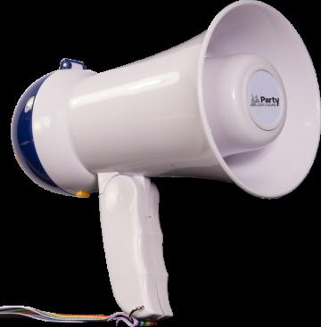Party Light & Sound megafoni sisäänrakennetulla muistilla