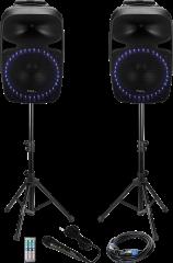 Ibiza Sound 2x400W kannettava äänentoisto BT/SD/Radio