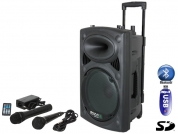 "Ibiza Portable speaker 10"" battery/USB/SD/BT/WIRELESS"