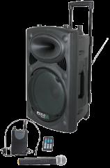 ibiza Sound 800W akkukaiutin + 2x mikrofoni + Singa nettikaraoke