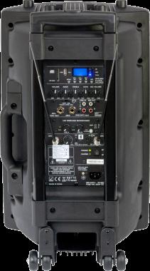 Ibiza Sound PORT-12 Kannettava akkukäyttöinen 700W kaiutin+ 2x langatonta mikkiä/USB/SD+BT