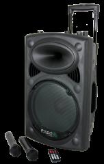 Ibiza Sound PORT-12 Kannettava akkukäyttöinen 700W kaiutin+ 2x langatonta mikkiä vuokra
