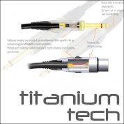 Bespeco Titanium 6m instrumenttijohto, kulmaplugi