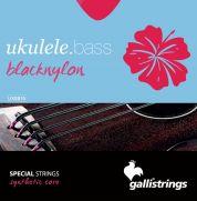 Galli Strings black nylon basso ukulelen kielet