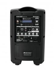 Omnitronic akkukäyttöinen PA + langaton mikrofoni + bluetooth