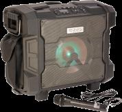 Vedenkestävä Ibiza Sound  Kannettava akkukäyttöinen kaiutin+langaton mikki/USB/SD+BT