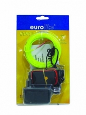 EUROLITE, EL wire 2mm, 10m, keltainen valokaapeli
