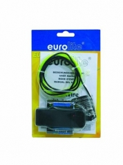 EUROLITE, EL wire 2mm, 2m, keltainen valokaapeli